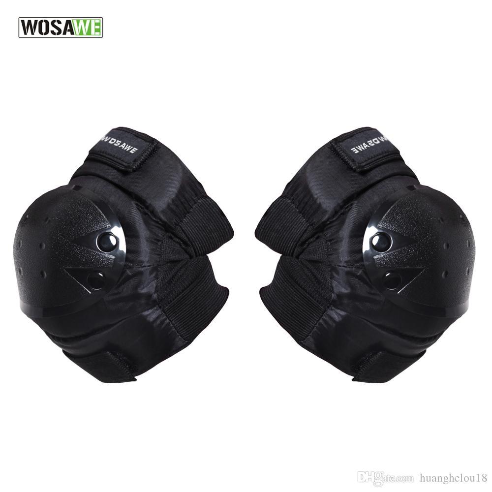 WOSAWE Motorrad Knie Ellbogenschutz Pads Protector Getriebe Sport Taktische Radfahren Straps Einstellbare Schutz