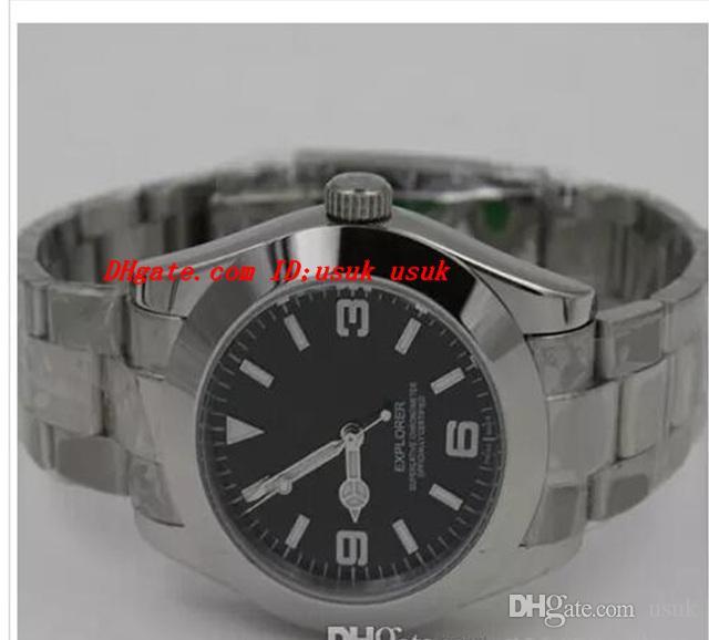 Najwyższej jakości Nowy Moda Luksusowy Automatyczny Rachunek Ze Stali Nierdzewnej Brand Black Dial 40mm Mens Sport Watch Wristwatch