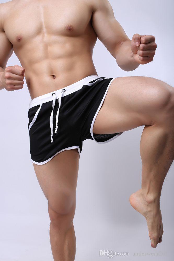 оптовые мужские плавки спортивная полиэстер купальники шорты, включая внутренний карман