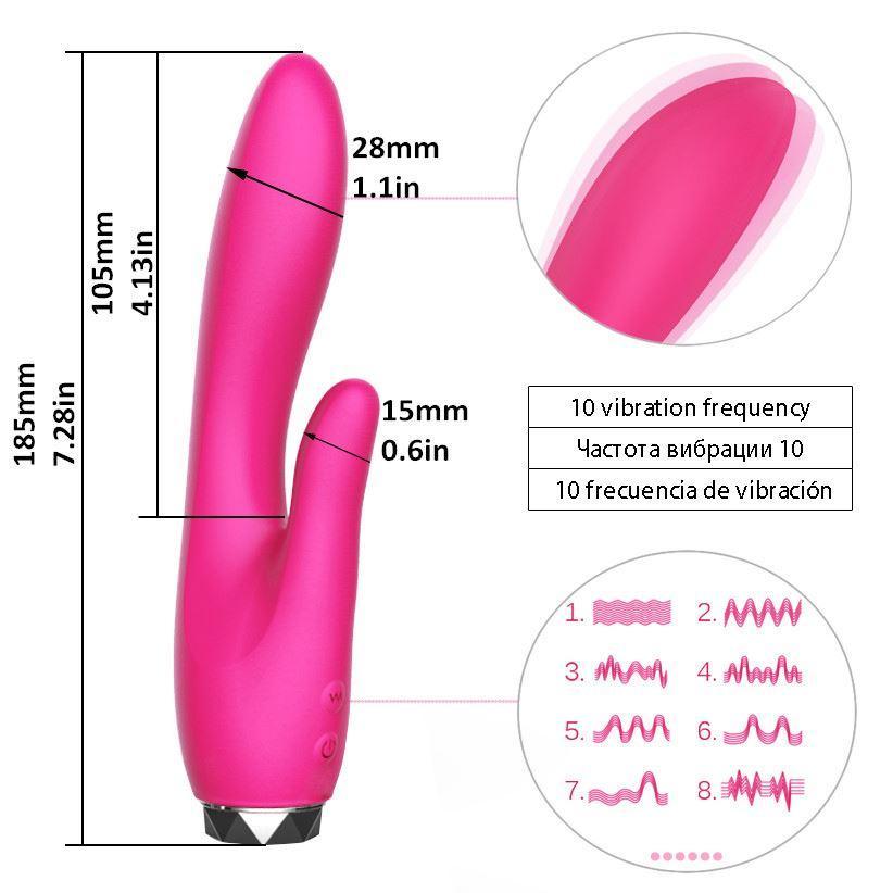 El más nuevo Impermeable 10 Velocidades Vibrador Erótico Femenino Adulto Juguetes Sexuales Masajeador Corporal Clítoris Vibrador Juguetes Sexuales para Mujeres 0701