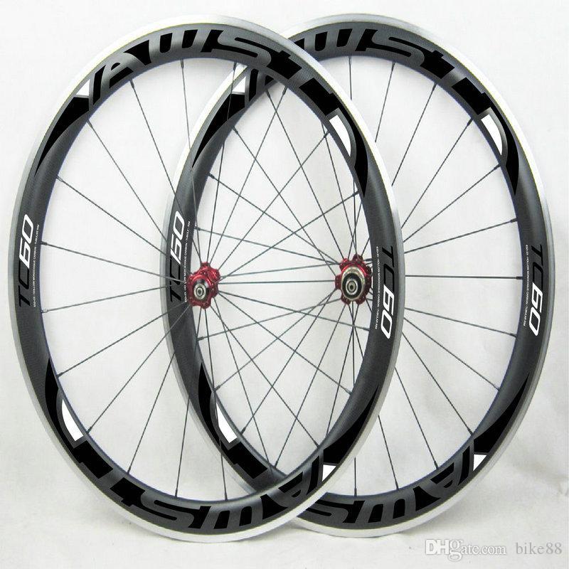 AWST original road bike carbon wheels 60mm TC 60 black BOB bicycle carbon wheelset clincher with powerway R13 hubs wheels free shipping