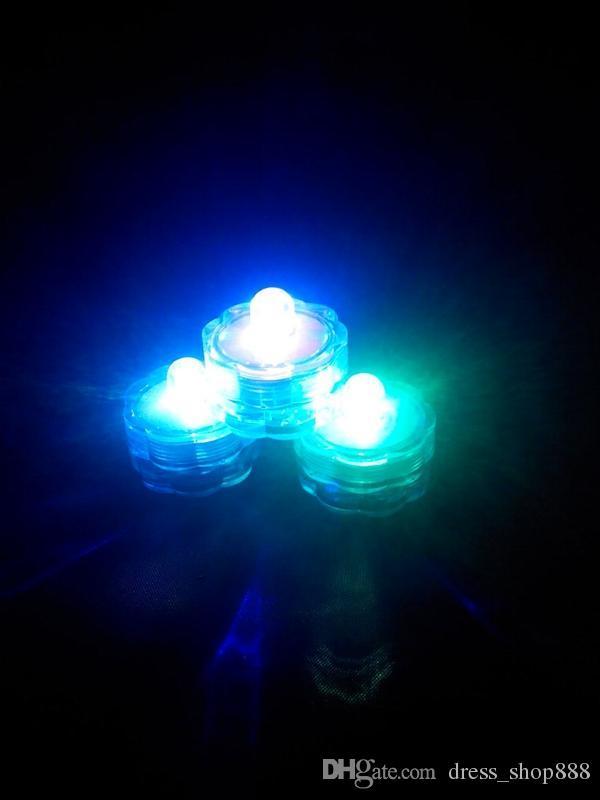Precio con precio LED luces de velas electrónicas vela alrededor de las luces de buceo buceo acuario de buceo a prueba de agua