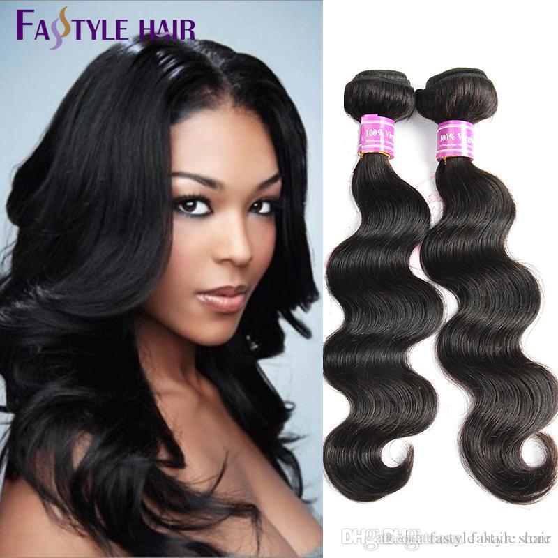 Cheap!Fastyle Indian Body Wave 4pc/lot Natural Black Unprocessed Brazilian Peruvian Malaysian Mink Virgin Human Hair Bundles Wholesale Cheap