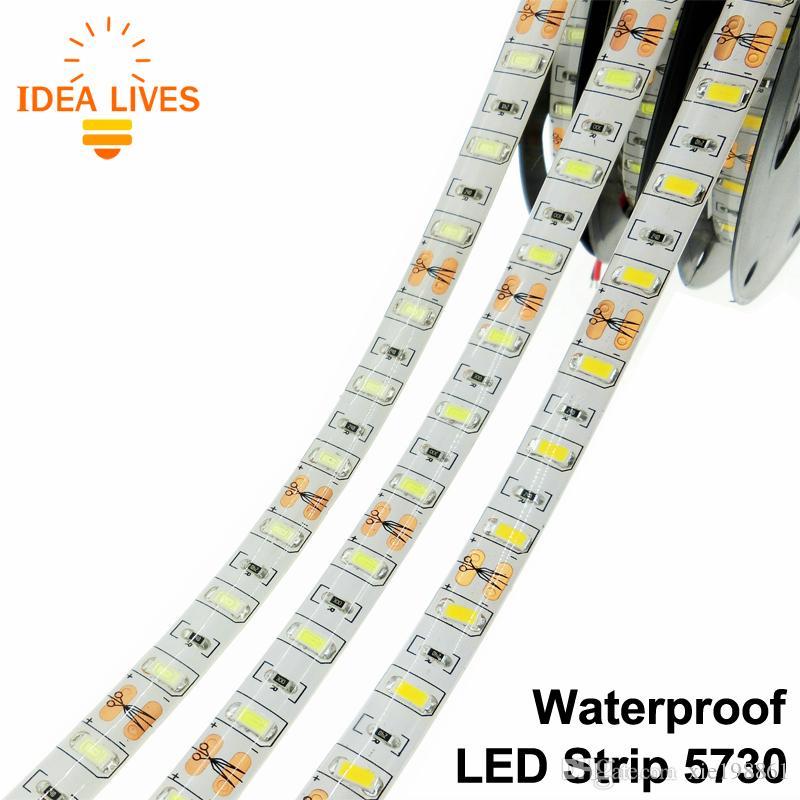 Impermeabile 5730 LED Strip LED flessibile DC12V IP65 60LED / m 5m / lotto Più luminoso del 5050 5630 LED Strip.