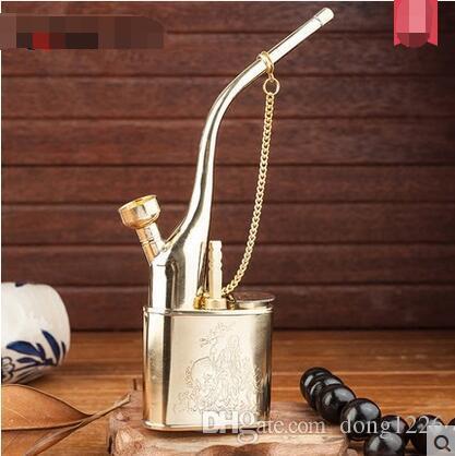 Sigaretta di Ai Bao con tubo di acqua di ottone vecchio tubo di acqua tradizionale a mano fumo tasche di tabacco shampoo doppio narghilè acqua