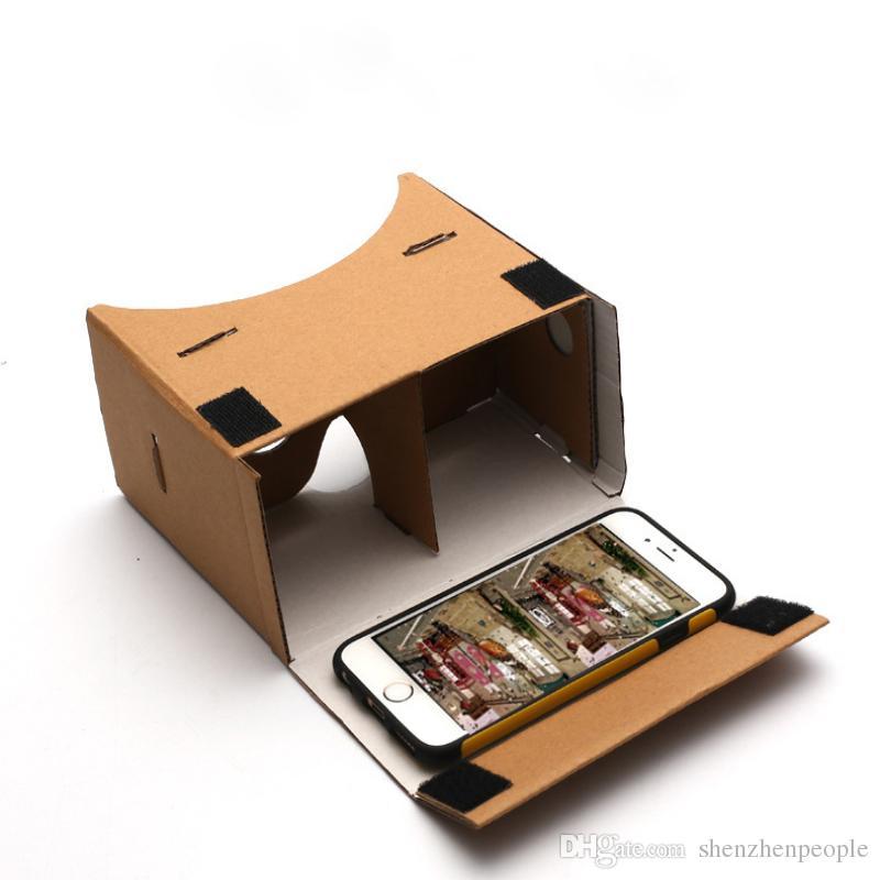 """ULTRA TRASPARENTE fai da te Google Cardboard 3D qualità 3D VR occhiali di realtà virtuale per i 5,0"""" dello schermo con headstrap"""