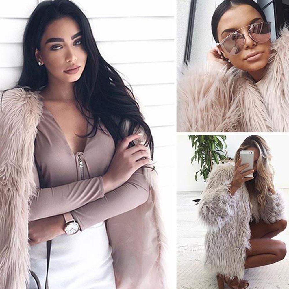 2017 Женская мода зима теплая искусственного меха Лиса пальто куртки Casacos Femininos с длинным рукавом куртка волос куртка пальто и пиджаки плюс размер