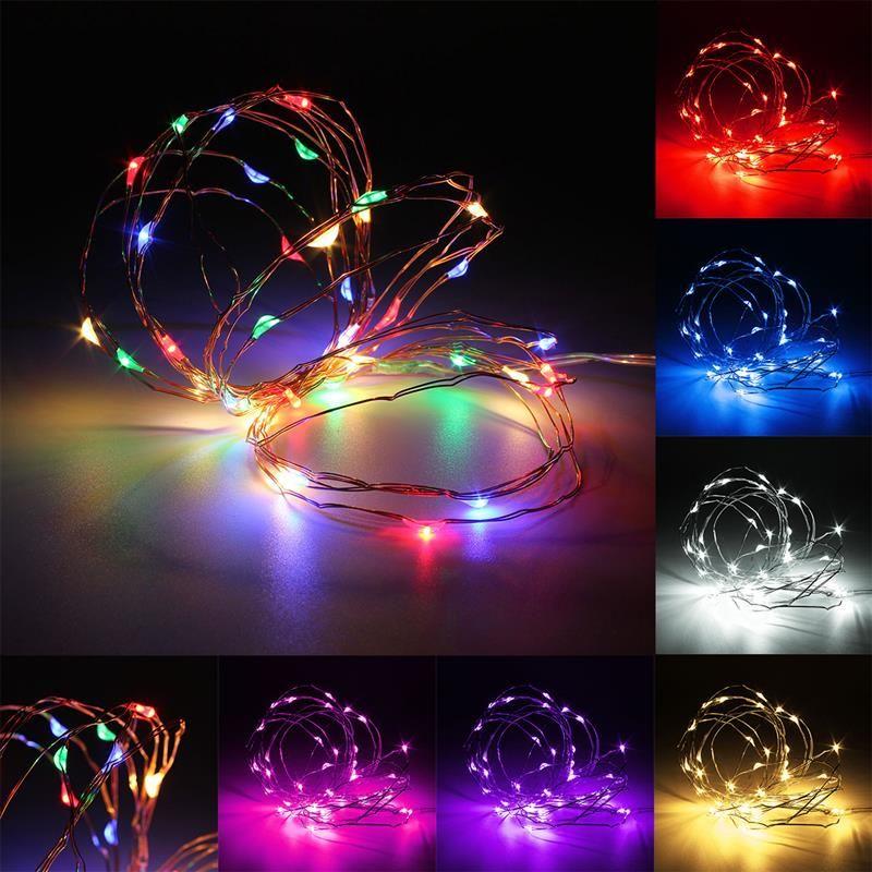 1M Cadena de Luces LED Impermeable Luces de Hadas con Pilas L/ámparas de Decoraci/ón de Fiesta Luces 10 LEDs de Cuerda