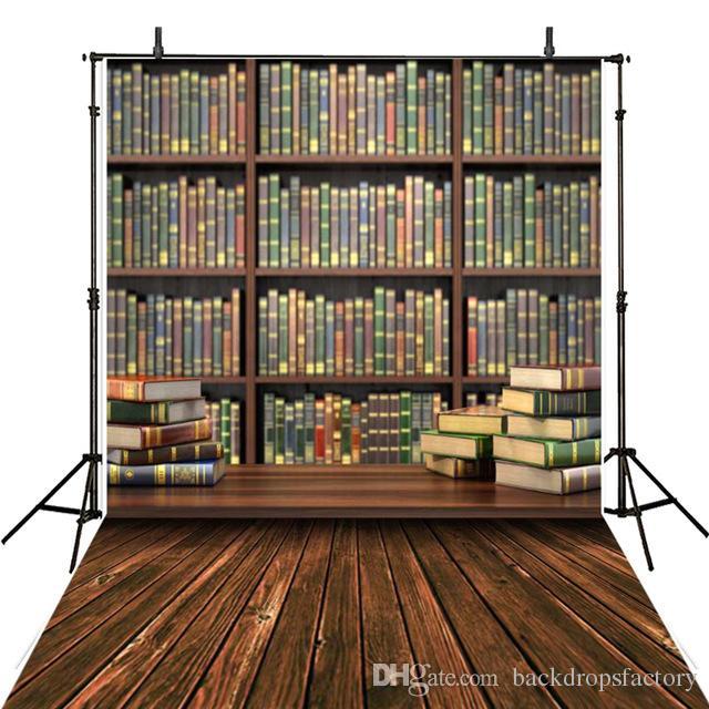 La biblioteca di stagione di graduazione dello studente prenota la priorità bassa di legno del pavimento dello scaffale per libri del pavimento dello scaffale per libri d'annata dell'annata dei bambini