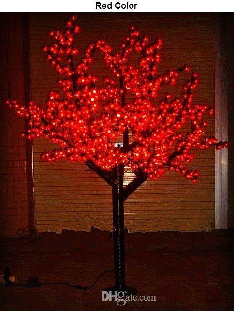 أدى ضوء شجرة عيد الميلاد الكرز شجرة الخفيفة 960 قطع المصابيح 6ft / 1.8 متر ارتفاع 110vac / 220vac المعطف في الاستخدام
