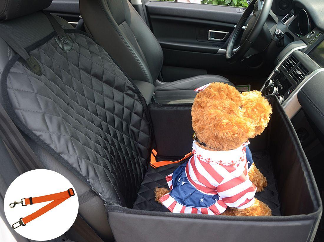 Pet Dog Seat Cover fors Small Medium Dogs Anteriore Impermeabile Lavabile Pet Dog Mat Booster Coprisedile Protector con Pet Cintura di sicurezza per auto
