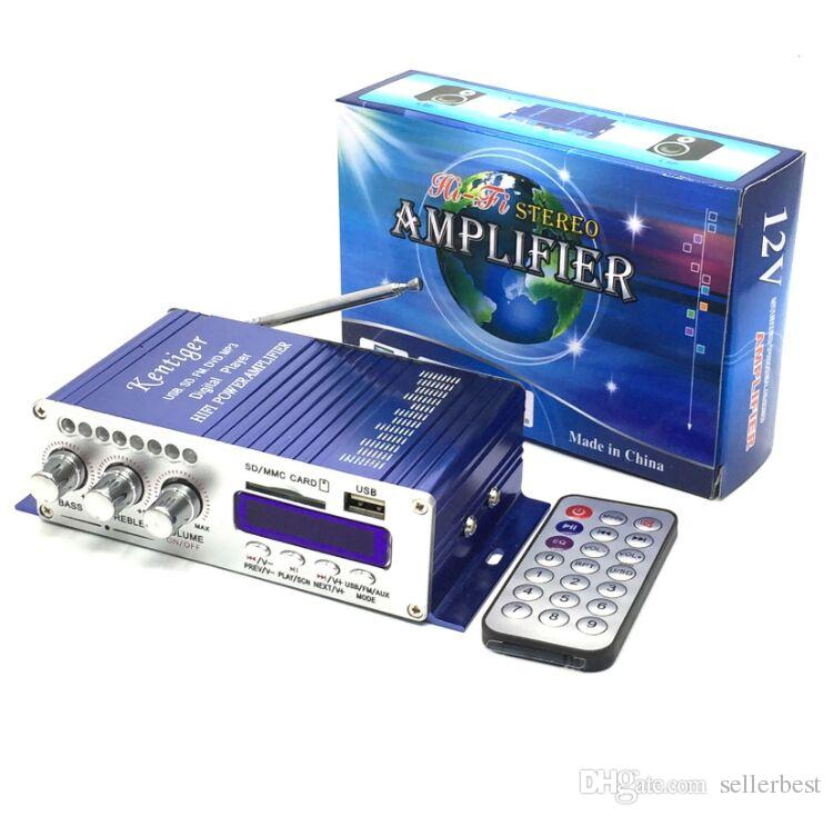 kentiger HY502 12 в Hi-Fi мини цифровой мотоцикл авто автомобиль супер бас стерео усилитель мощности звук увеличитель аудио музыкальный плеер авто усилитель