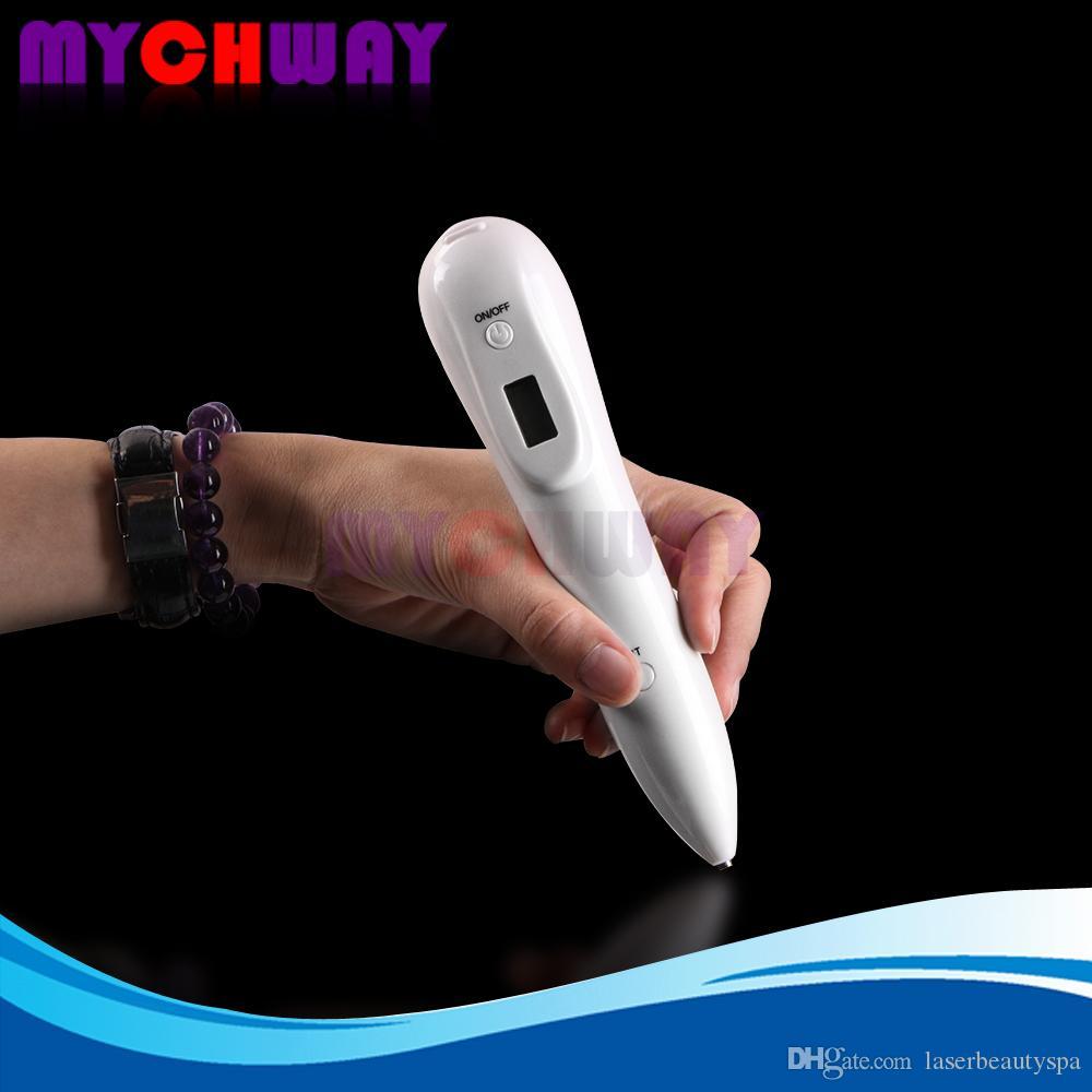 تجديد الجلد المحمولة شاشة LCD الاجتياح الخلد النمش بقعة علاج آلة القلم الكهربائي مع 5 أجوستابل السلطة للرجال النساء