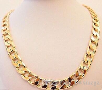 "Collana da 22 ""HEAVY 12.5MM 18K Gold Filled Necklace da 22"""