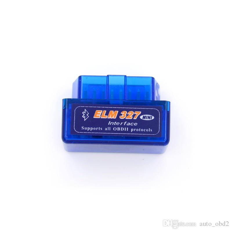 Super Mini Elm327 Bluetooth OBD2 V2.1 Elm 327 Adattatore per auto Android Scanner OBD 2 Elm-327 OBDII Auto Scanner per strumento diagnostico
