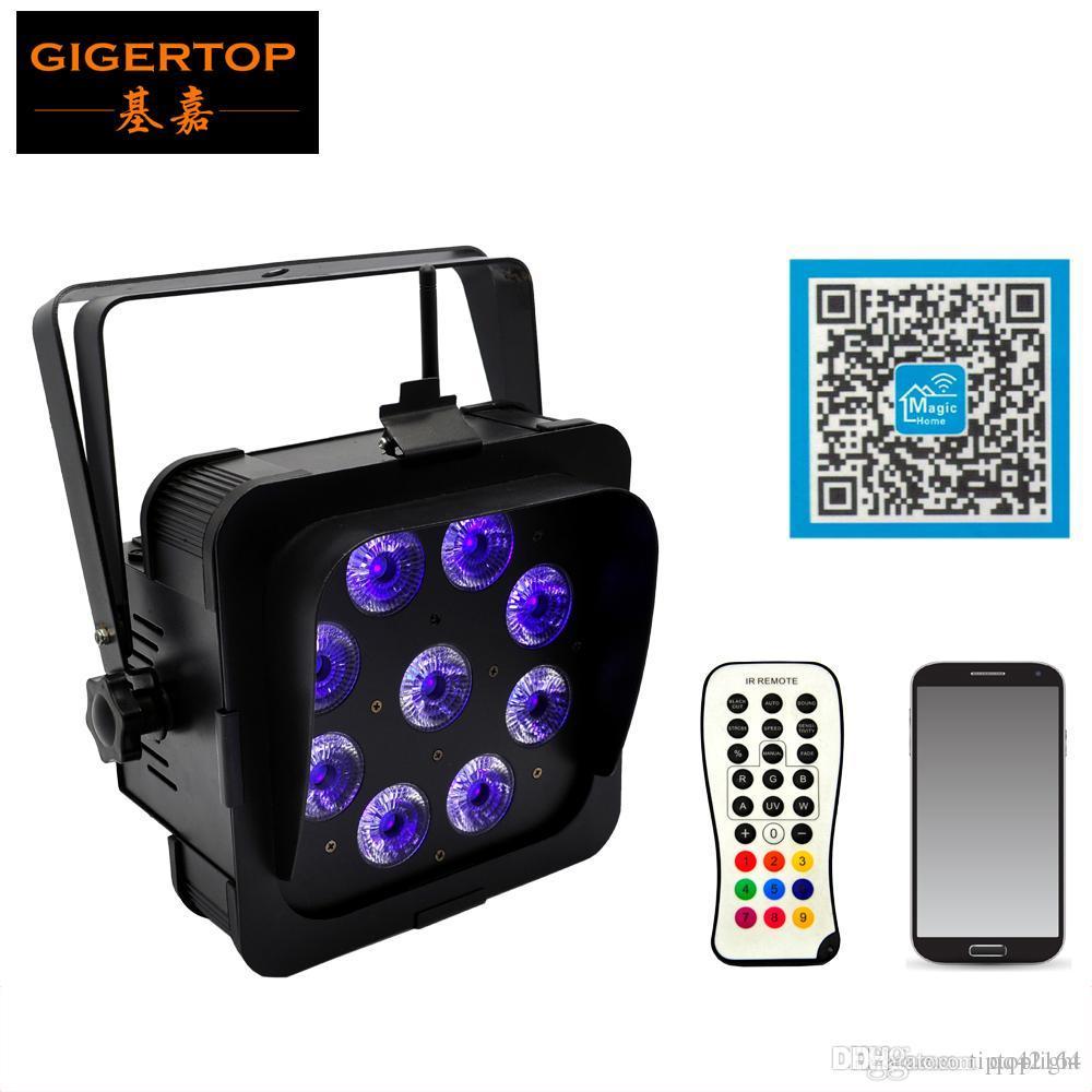 TIPTOP Bühnenscheinwerfer TP-G3049-6IN1 Schwarzes Gehäuse Hochzeit Uplights Stand DJ LED Par 9 * 18W LED Par Lichter drahtlose Batterie dmx 2.4G