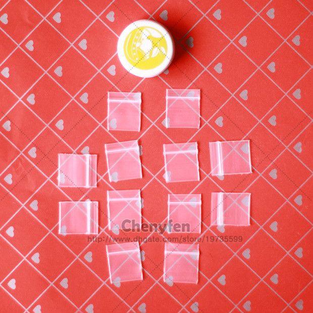 "Chear Mini Self Sealing Clear Zip Lock Bags 500pcs 0.7""x0.8"" Plastic Bags 1.8x2cm 8mil Skinny Jewelry Baggies"