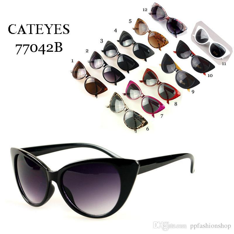 2017 мода ретро солнцезащитные очки, Мода Sexy Cateyes кошачий глаз анти-УФ солнцезащитные очки, выбор солнцезащитных очков оптом