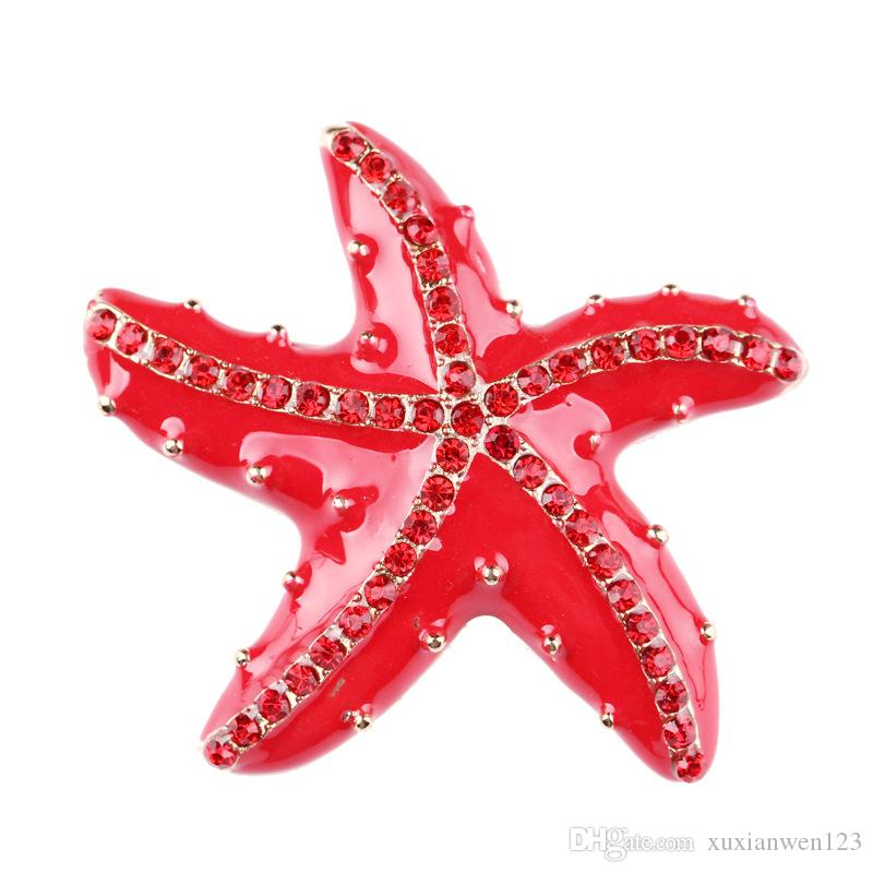 Hot sale Metal Vintage Large Starfish Brooch Vintage Jewelry Simulted Pearl Bouquet Brooch Women men Safety Pins Silver Plated Jewelry