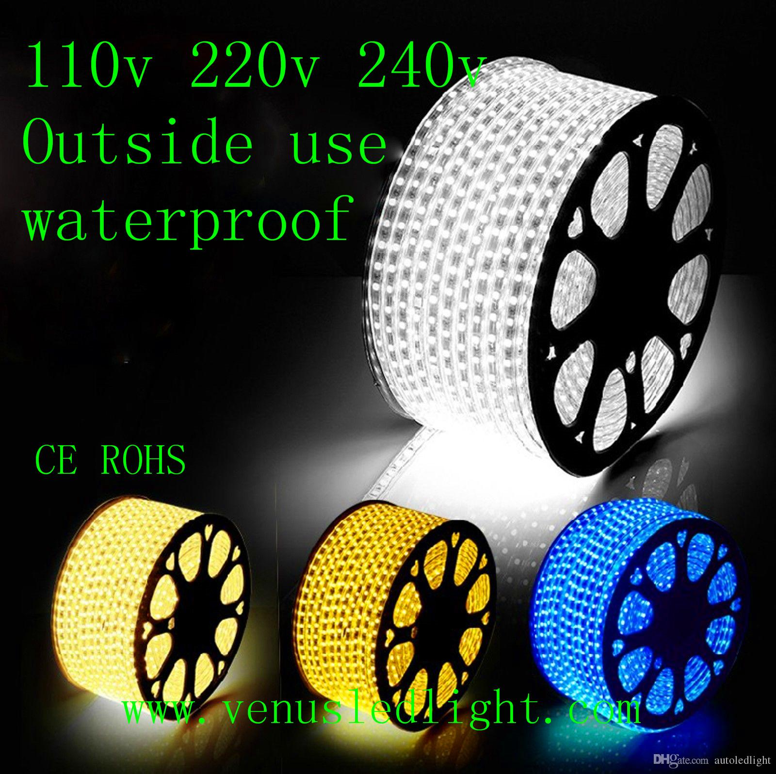 low priced 1b734 f4f7a 100M Led Strip Light 60led Flexible 110v/220V Waterproof Smd 3528 5050  Chiristmas Led Rope Light Outdoor Led Light Xmas Decorating Car Led Light  ...