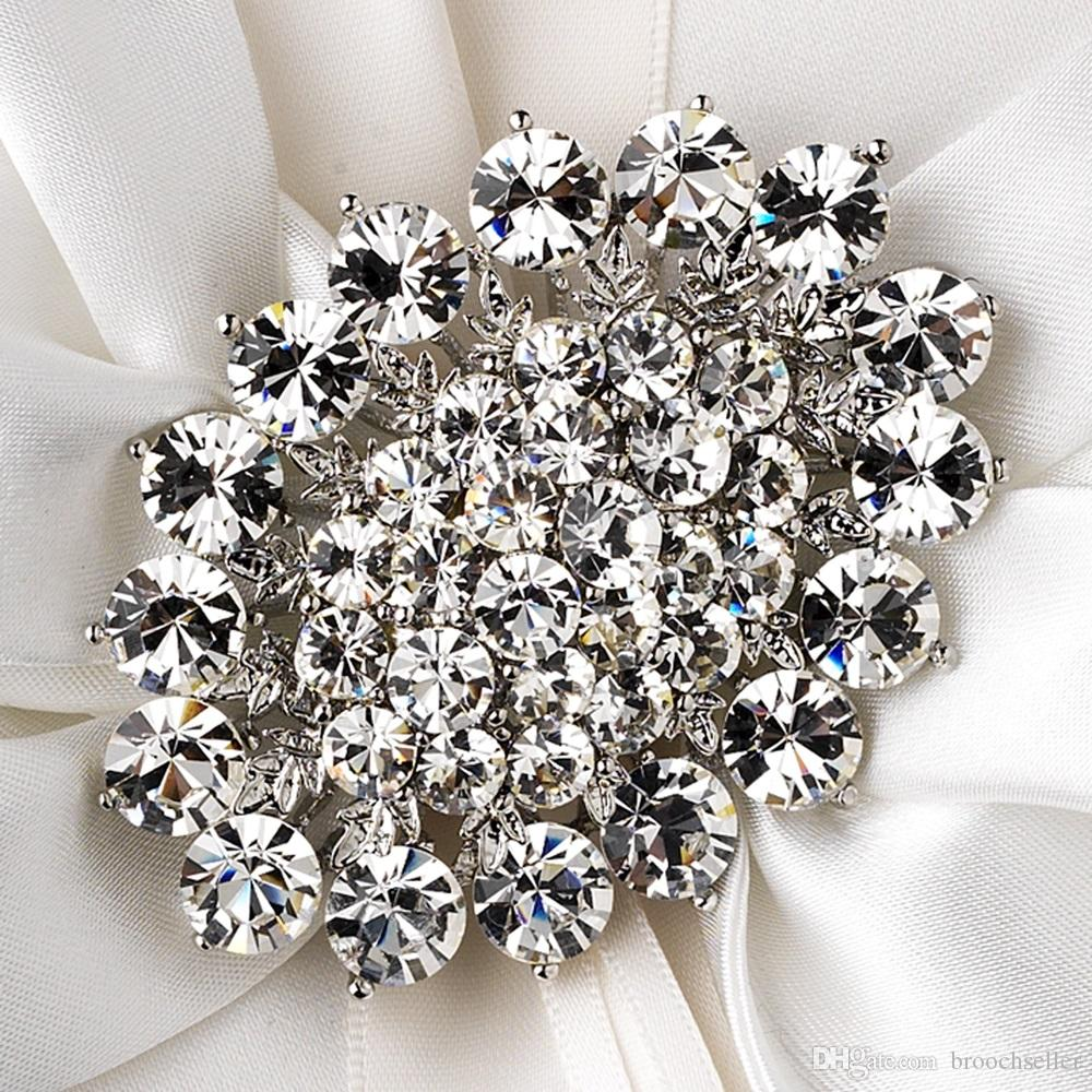 Gold Strass Kristall Elegante Party Braut Pin