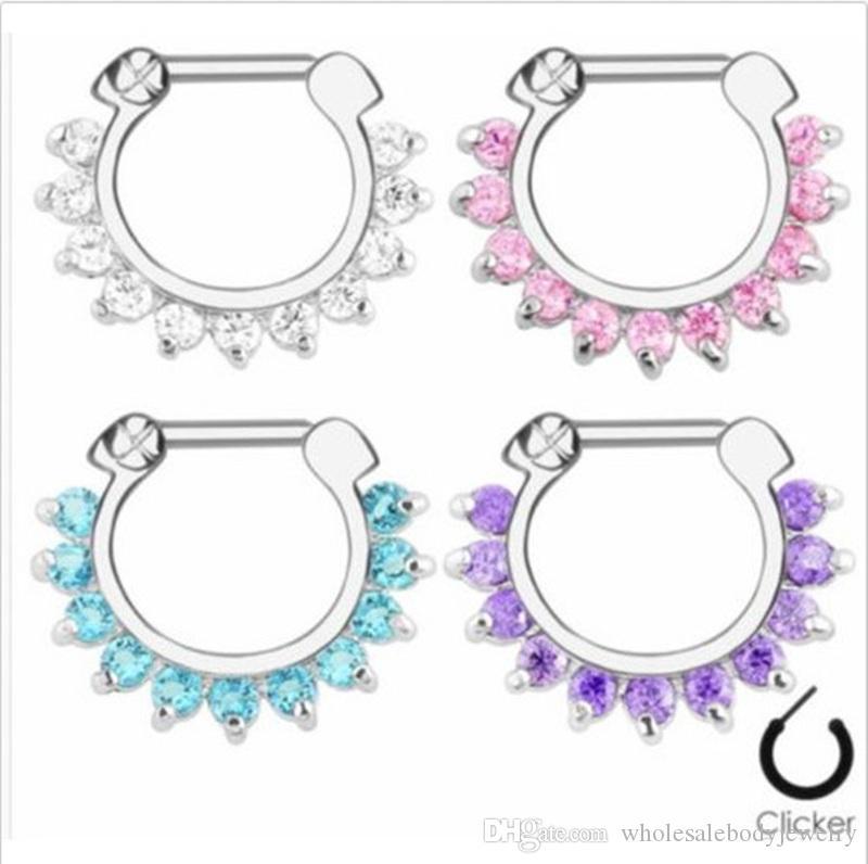 2020 Lotnose Clicker Septum Ring Nose Ear Nipple Ring Clicker