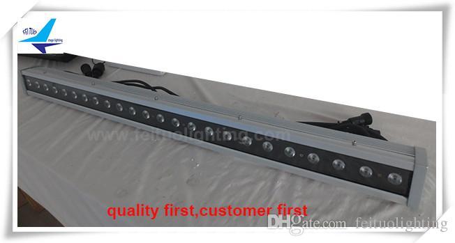 (8 pezzi / lotto) La luminosità di alta qualità del mercato della Cina rgbw ha condotto la rondella della parete, rondella della parete di 24x10w 4in1