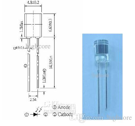Retail 4.8mm Semi-Lens Silicon PIN Photodiode VCRs , Video camera rohs