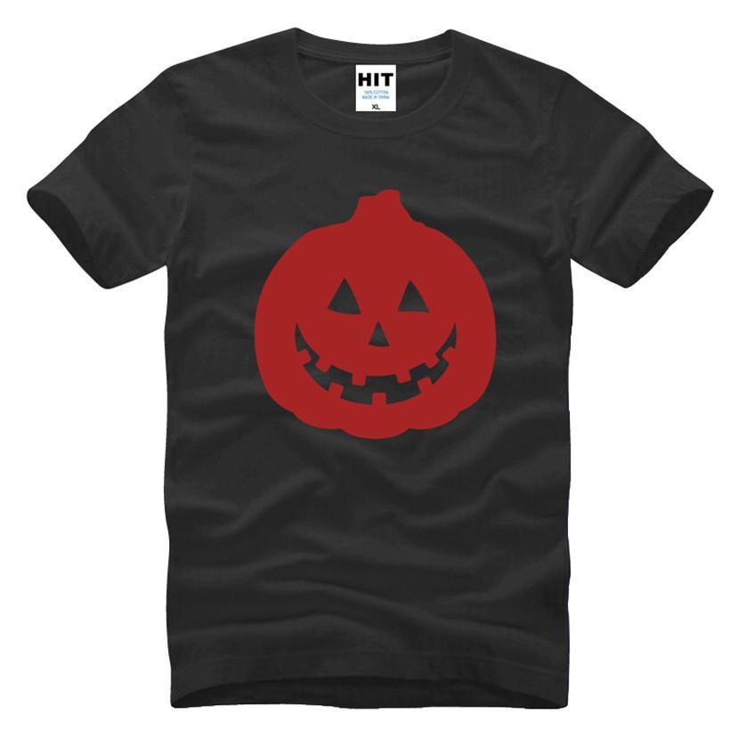 Erkekler Için erkek Kısa Kollu T Shirt Yazık Lamba LANTERN Kabak Cadılar Bayramı Komik T-shirt Moda Mens