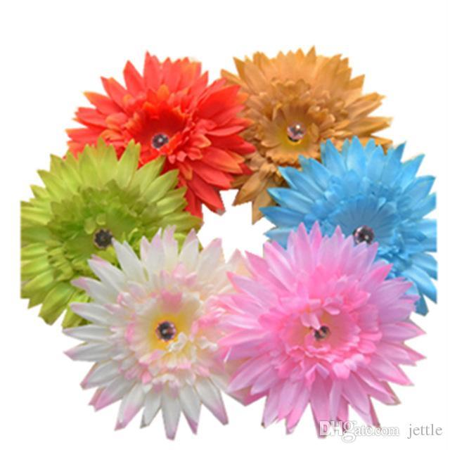 ¡nuevo diseño! 30pcs / lot 4.5 '' grandes Gerbera margarita flor pelo barrettes con broche de pelo y broche, mezclar 6 colores