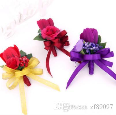 결혼식 신랑 꽃 코사지 웨딩 꽃 신랑 결혼식을위한 코사지 꽃
