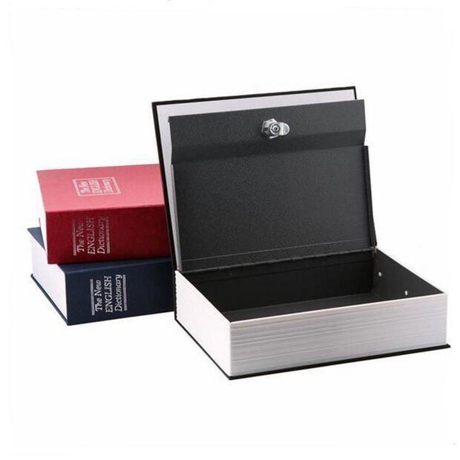 Dictionary Buch Coffer Secret Versteckte Sicherheit Safe Lock Cash Geld Schmuck Locker Aufbewahrungsbox Größe S 4 Farben für Wahl