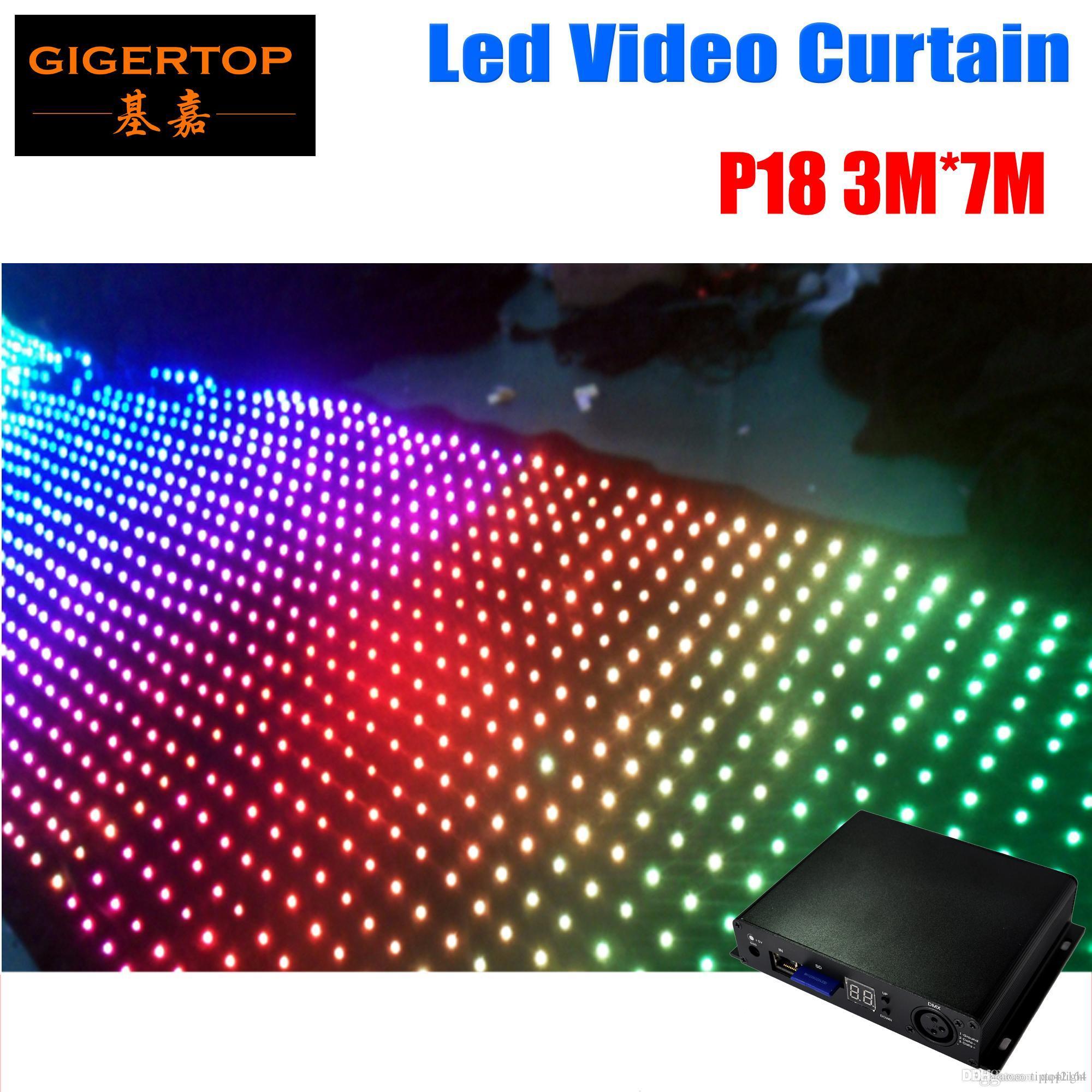 Pitch 18/19/20 3M * 7M LED-Stern-Vorhang Off Line Modus LED Video-Vorhang für DJ Hochzeitshintergründe wählen