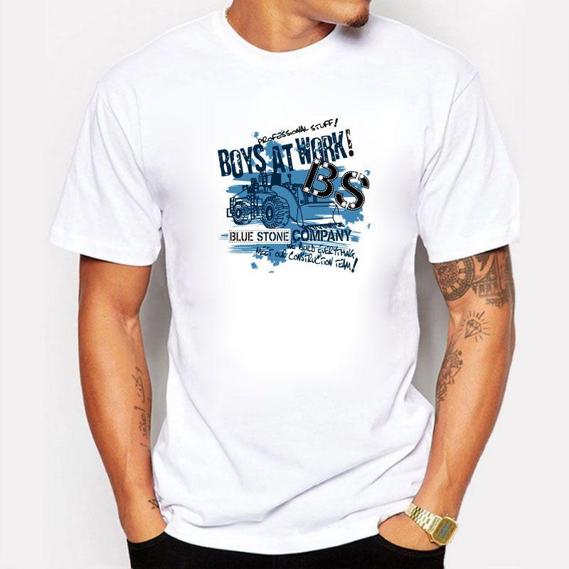 Moda BS Blue Stone Boys en el trabajo Imprimir camiseta Hombre Ropa de marca Manga corta Camisetas Hombre Casual Tops de algodón camiseta