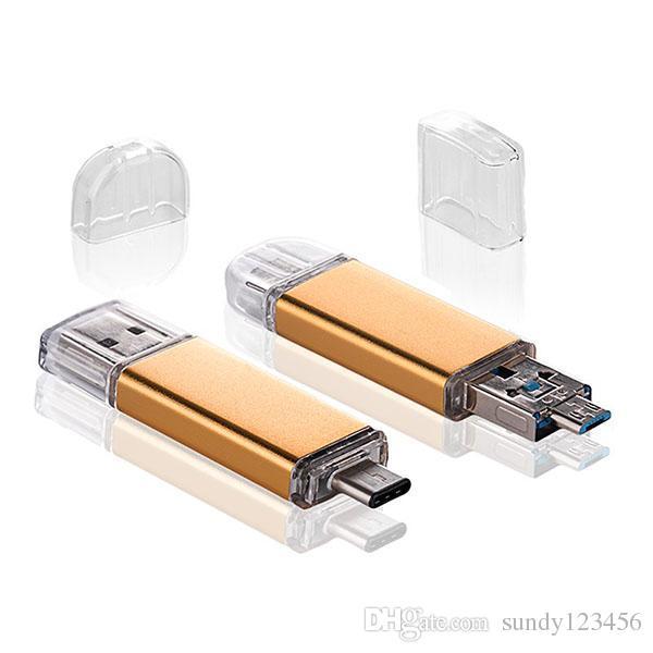 3 otg USB3.0 플래시 드라이브 유형 C 메모리 스틱 128GB 64GB 32GB 16GB USB-C PEDRIVE