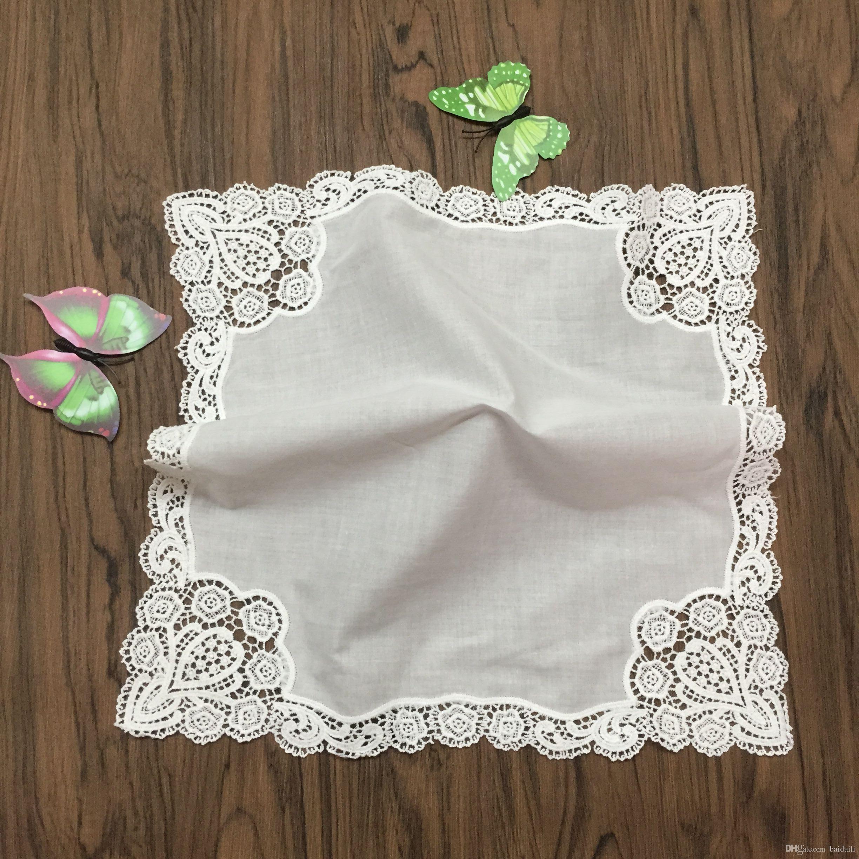 3 bleu blanc 100/% coton brodé personnalisé mouchoir tout nom cadeau
