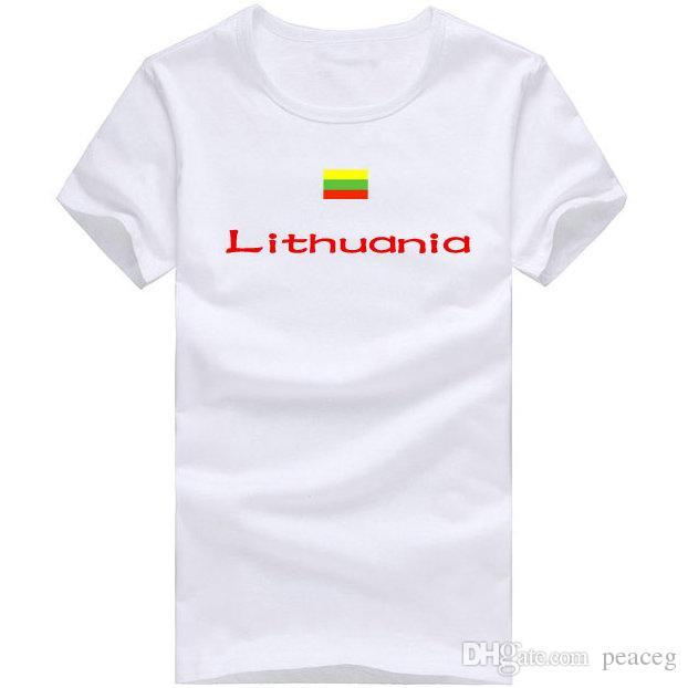 T-shirt Lituania T-shirt sportiva da pallavolo a maniche corte T-shirt asciutta Abbigliamento da bandiera nazionale Maglietta in cotone unisex
