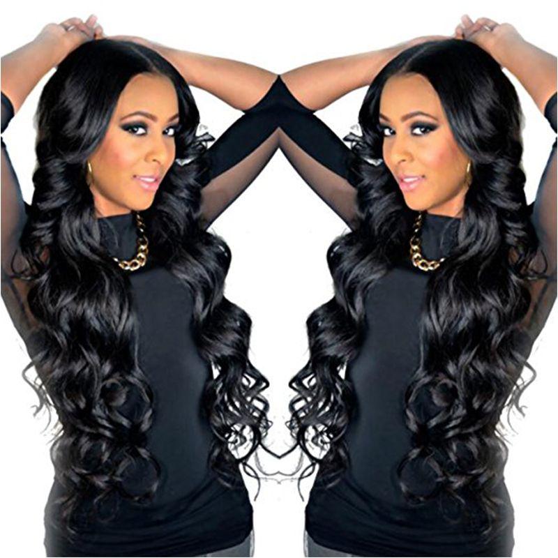 Brazilian Body Wave Lace Front Human Hair Wigs For Black Women Brazilian Virgin Hair Full Lace Human Hair Wigs Natural Black