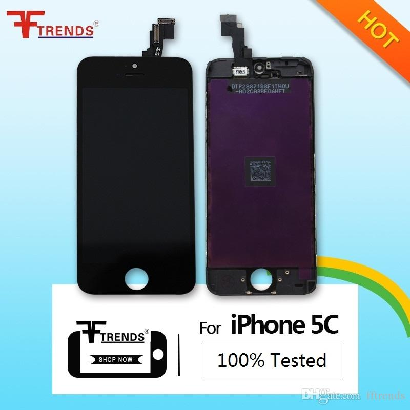Promotion for iPhone 5C LCD Display & Touch Screen Digitizer Full Assembly with Earpiece Anti-Dust Free Ship In Stock
