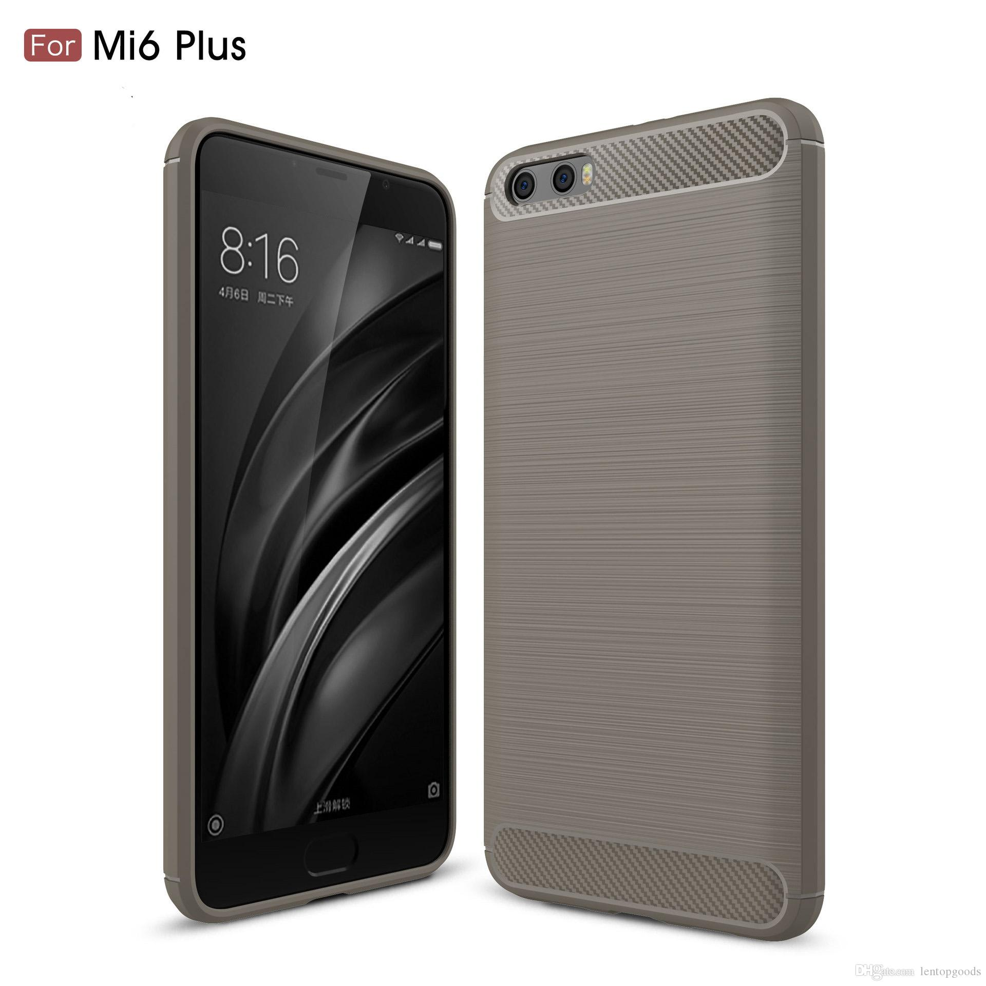 For Xiaomi 5x Redmi 4 Case Carbon Fiber Brushed TPU Case Samsung Galaxy A8 2018 Redmin NOTE 4 Protective Back Cover