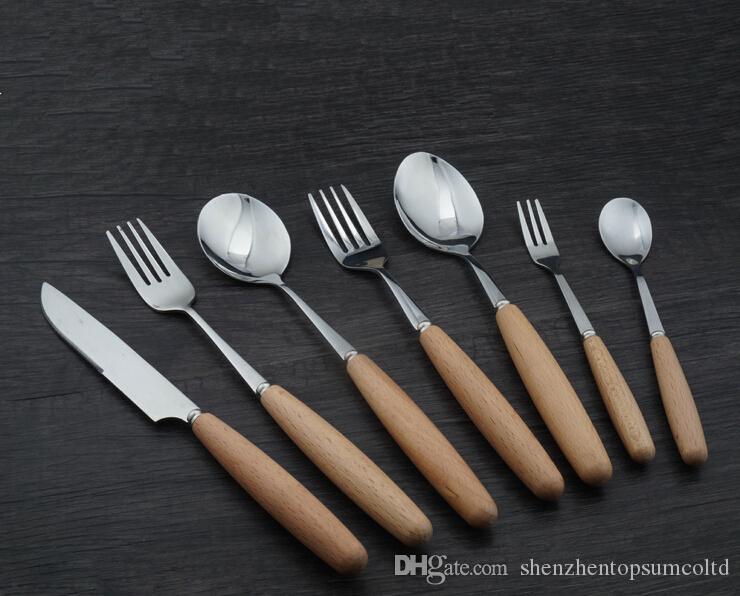 Haute qualité poignée en bois outils de vaisselle