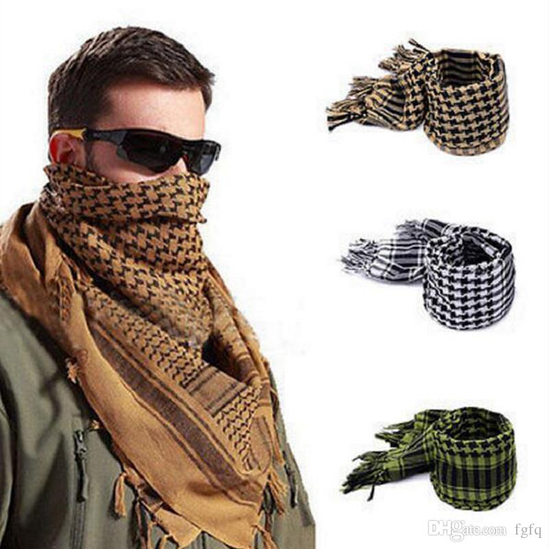 6 Colors Outdoors Men Male Desert Windproof Arab Shemagh Wargame Square Magic Scarves 110cm*110cm - Cotton Scarf