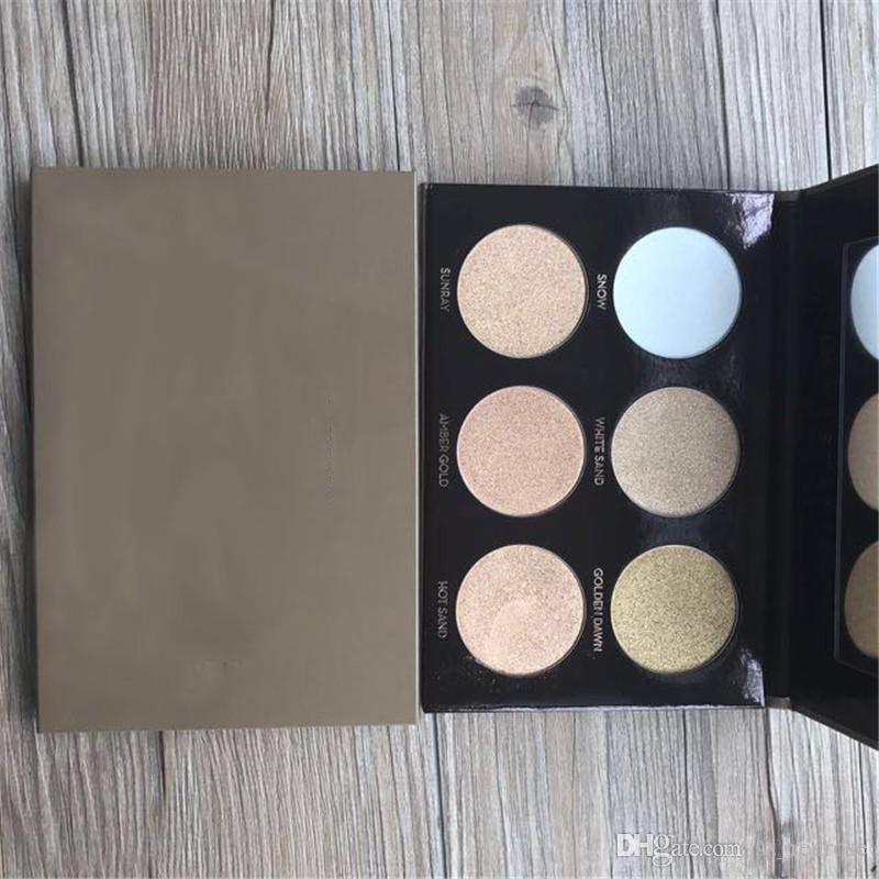 в наличии! Высокое качество макияжа Тени для век Палитра 4 цвета Румяна Eye Shadow Palette 6color Bronzers Highlighters палитра DHL бесплатно + подарок
