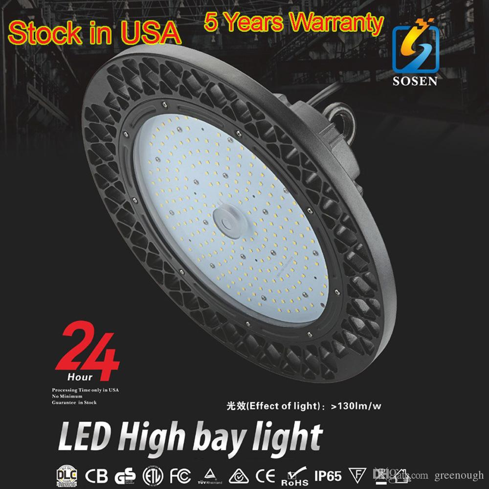 ETL DLC Listado 100 W 150 W 200 W 240 W UFO LED Alta Baía Luzes LED Industrial Lâmpada 130LM / W IP65 Interior Ao Ar Livre LEVOU Iluminação Do Armazém