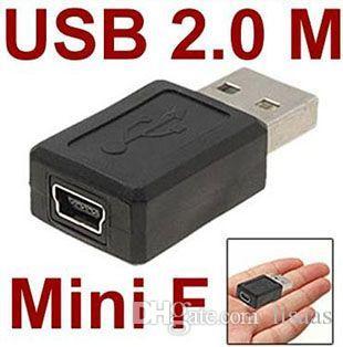 도매 USB 2.0 미니 5pin USB B 유형 5pin 여성 커넥터 어댑터 convertorc 300pcs / lot에 유형 남성 무료 배송
