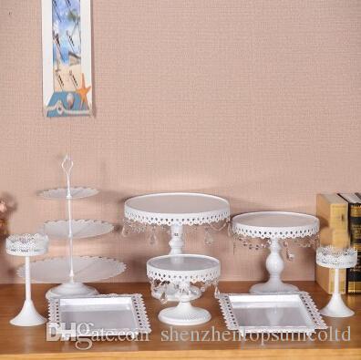8pcs blanc fer cany cookie affichage plateau table de fête de mariage décoration fournisseur cuisson outils de gâteau de pâtisserie