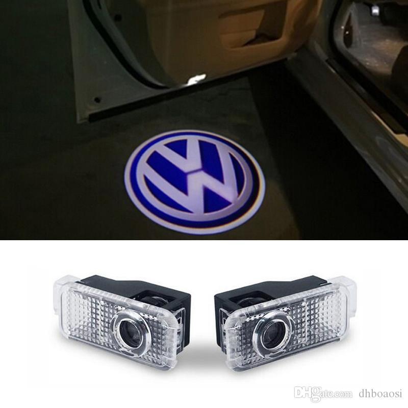 Logotipo da luz da porta do carro projetor bem-vindo levou lâmpada fantasma sombra luzes Para Volkswagen VW Phaeton Passat B5 B5.5