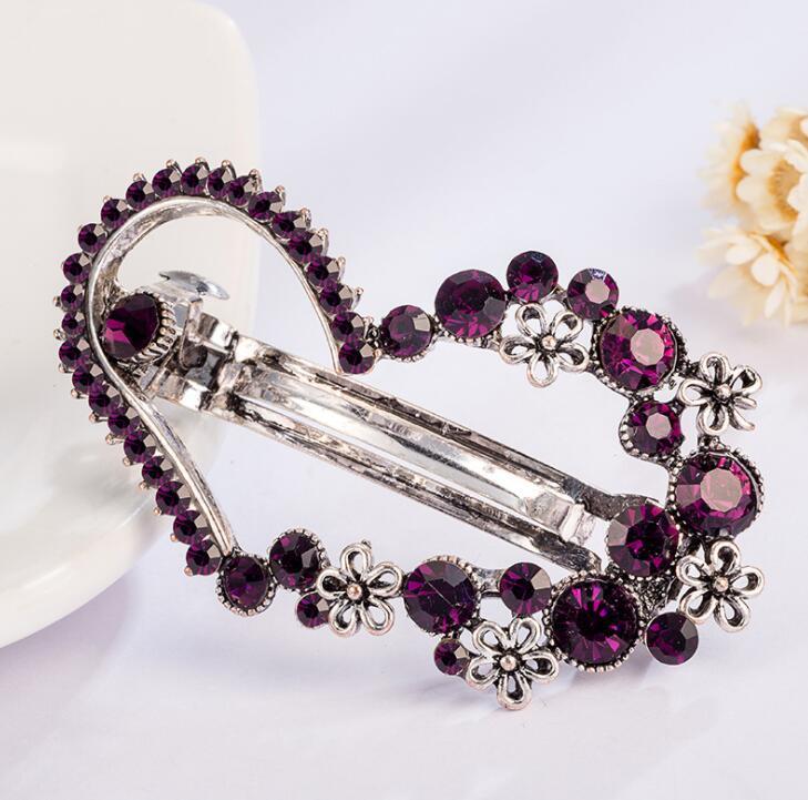 Multi-Style Rhinestone Heart Star Butterfly Leaf Crown Tiara Hair Clip Hairpin Women Bow Barrettes Hair Ornament Рождественский подарок