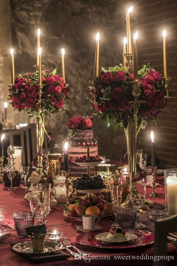 Düğün dekorasyon için zihinsel çiçek vazo Centerpieces Düğün Masa yeni stil