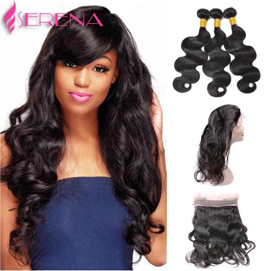 Ship From US!!! Original Human Hair Closure Body Wave Malaysian virgin human hair 360 Lace Frontal Closure Frontal Closures for black women